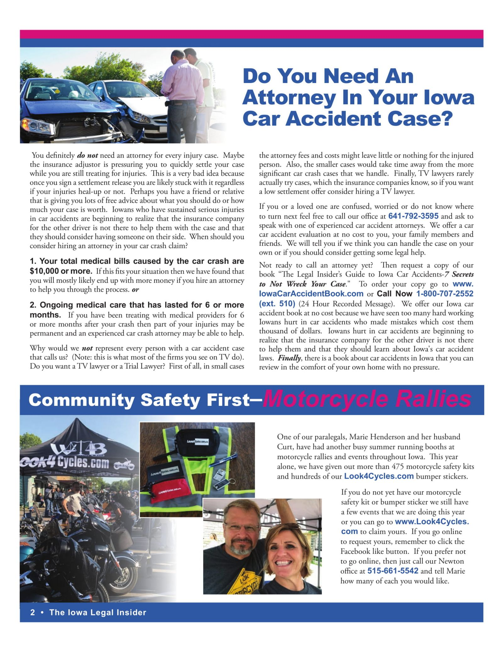 iowa legal insider Attorney for car accident case