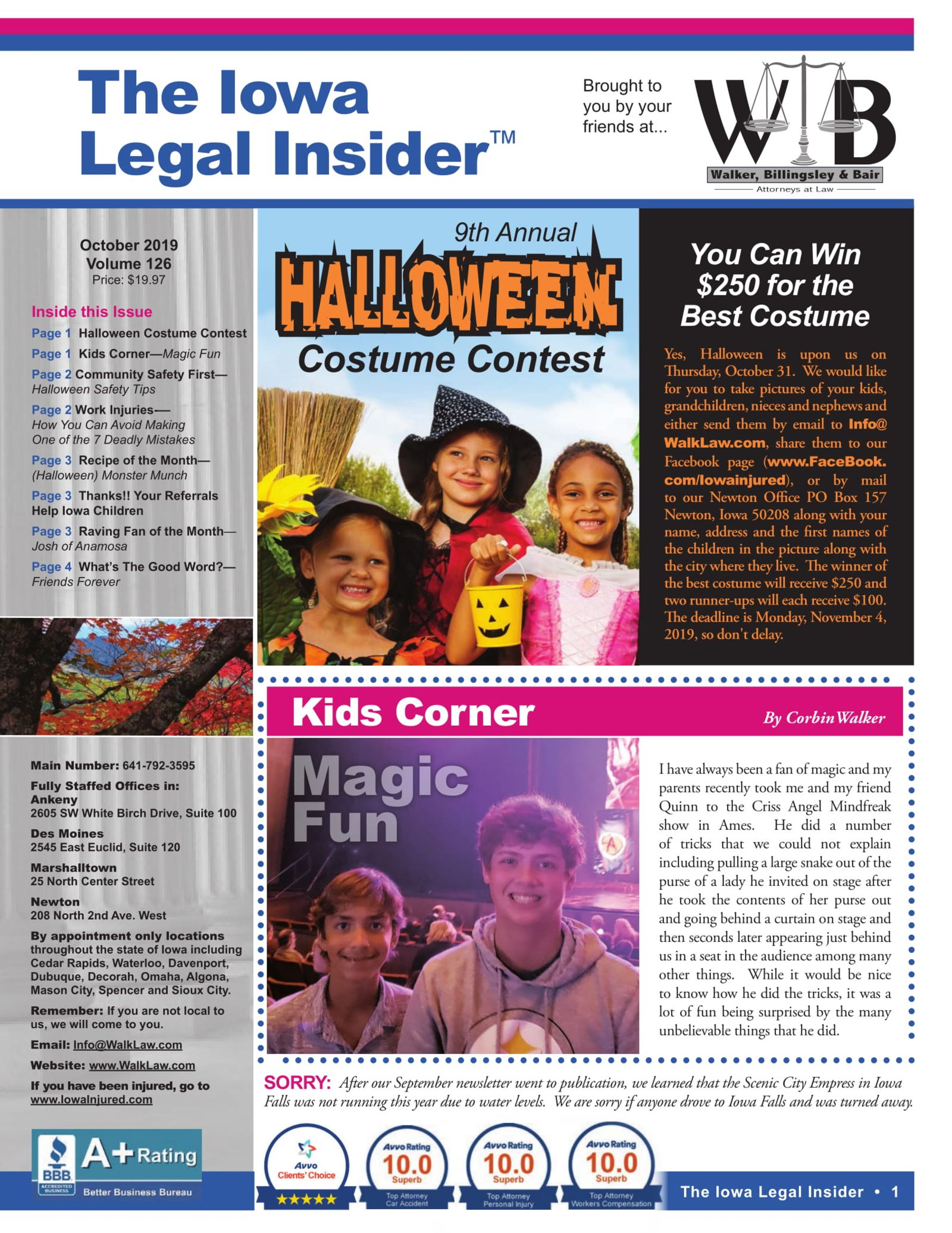 The Iowa Legal Insider Halloween Costume Contest