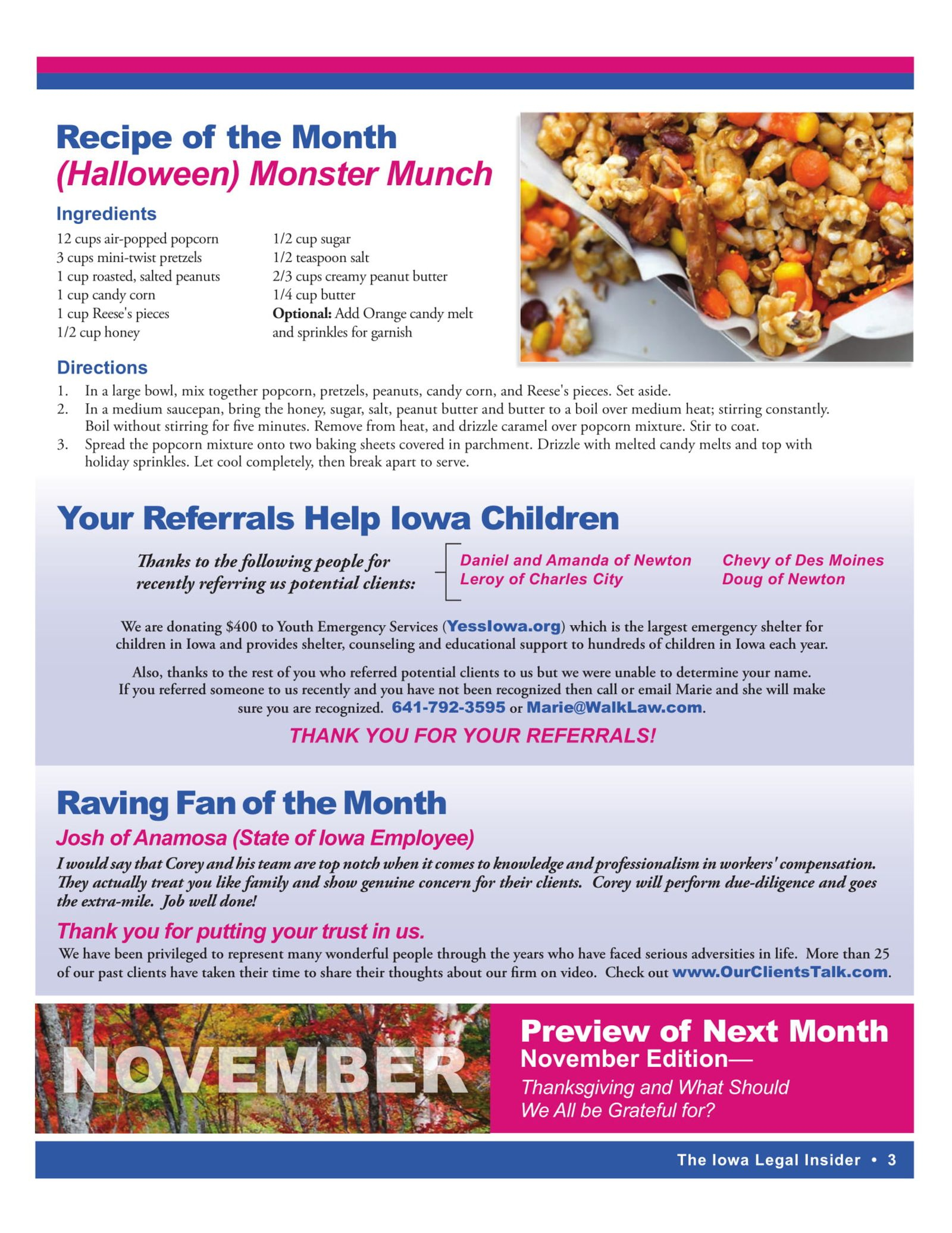 Recipe of the Month Halloween