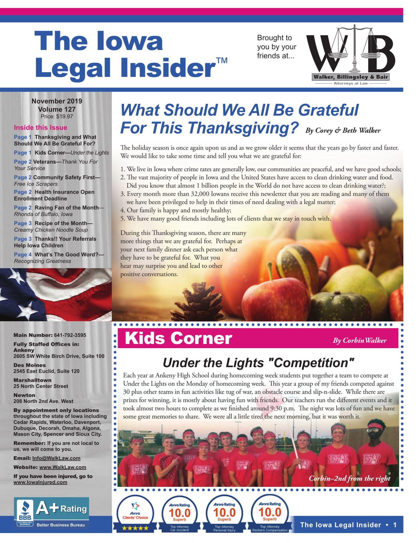 Iowa legal insider what should we be grateful for this thanksgiving