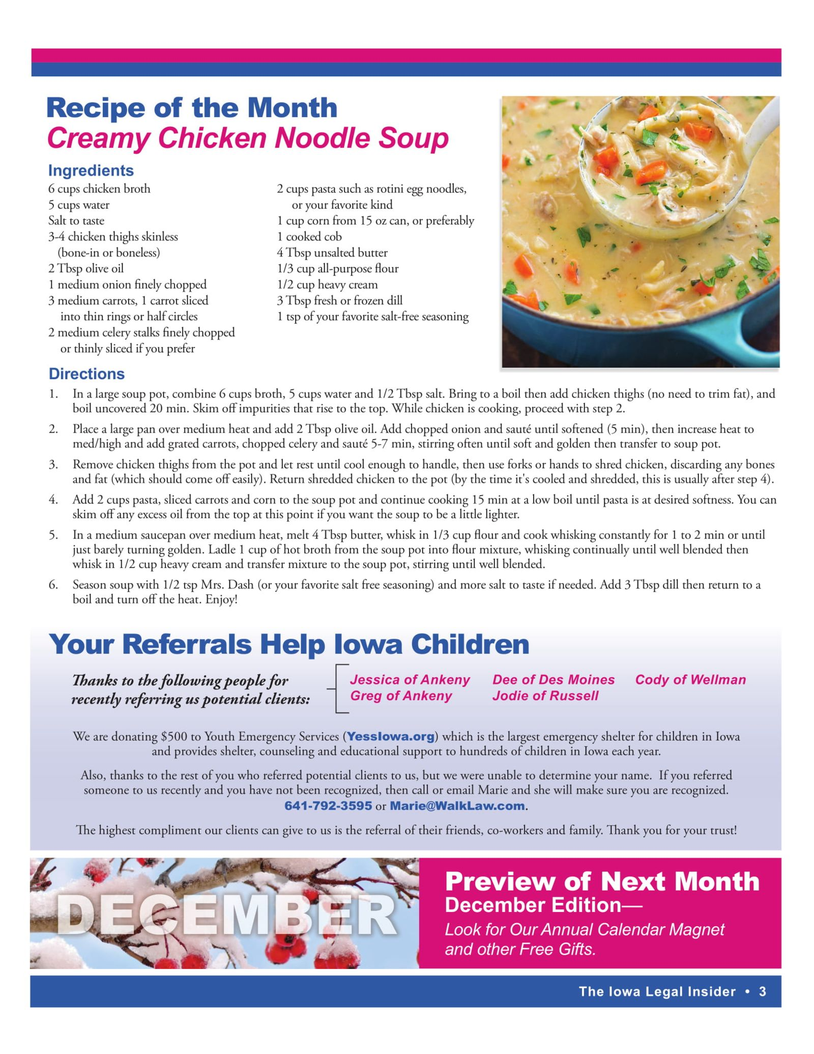 Creamy Chicken Noodle Soup Recipe Iowa Legal Insider