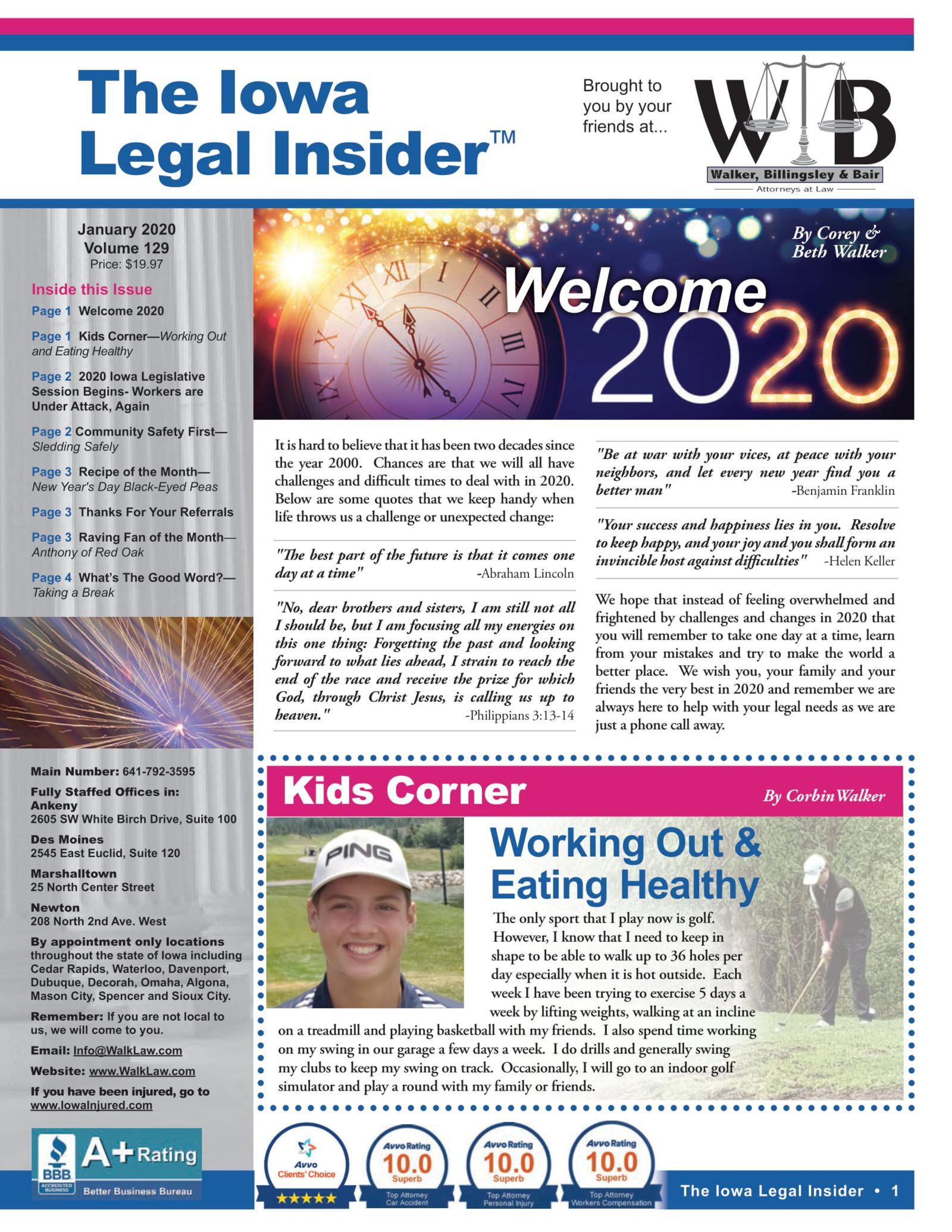 The iowa legal insider welcome to 2020 and working out