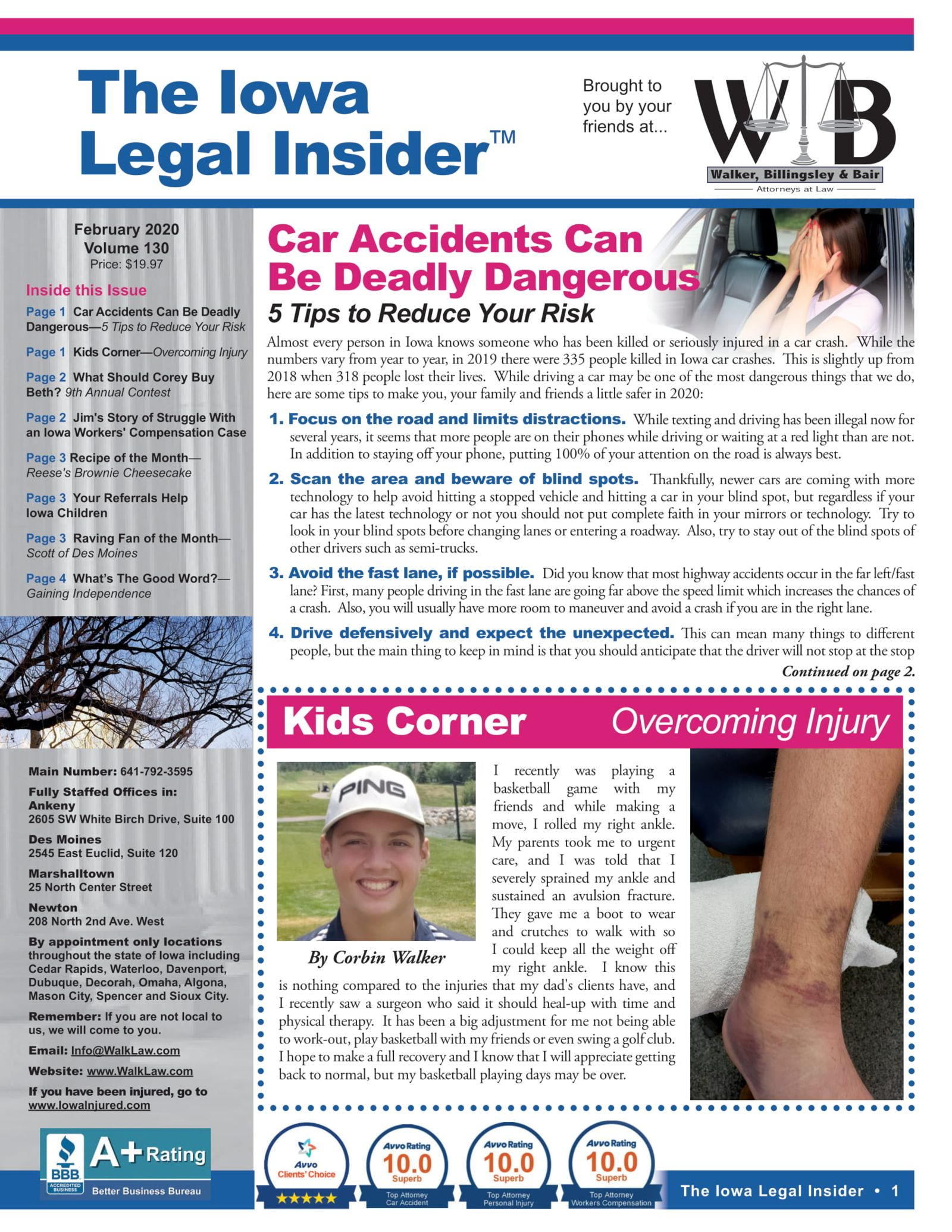 The iowa legal insider Reducing your risk of injury in a car accident