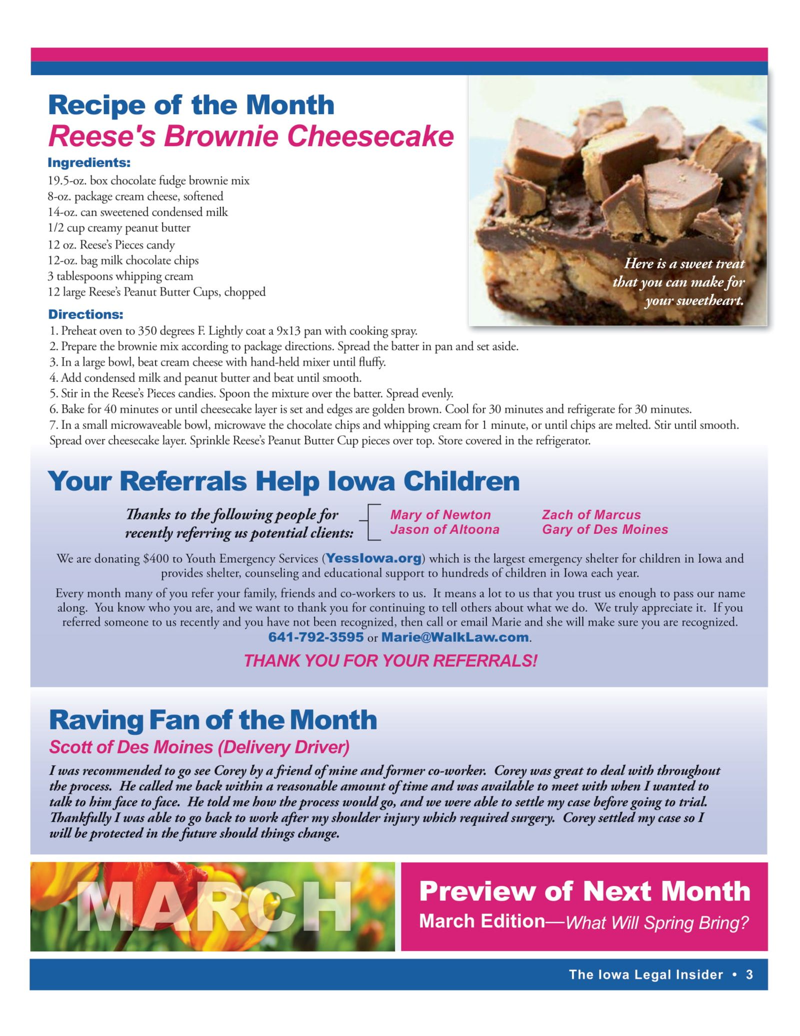 The iowa legal insider Reese's Brownie Cheesecake recipe