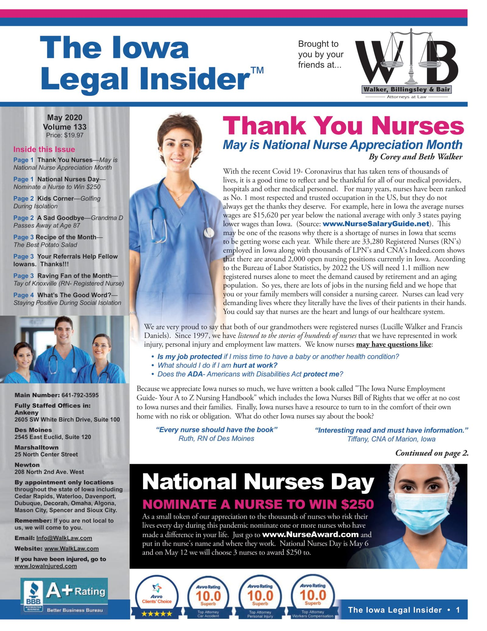 The iowa legal insider Thank You to nurses national  urses day