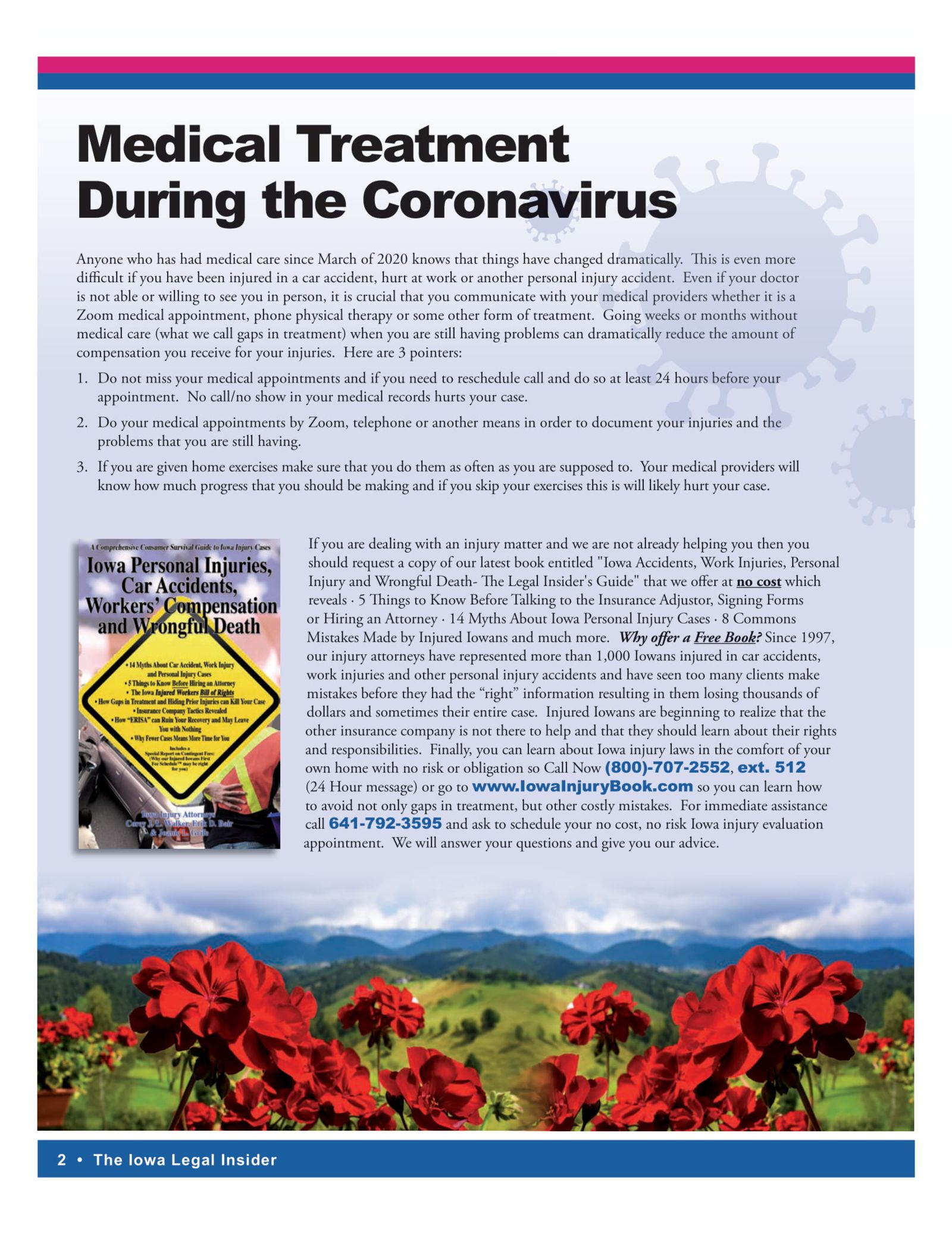 Iowa legal insider Medical treatment during coronavirus