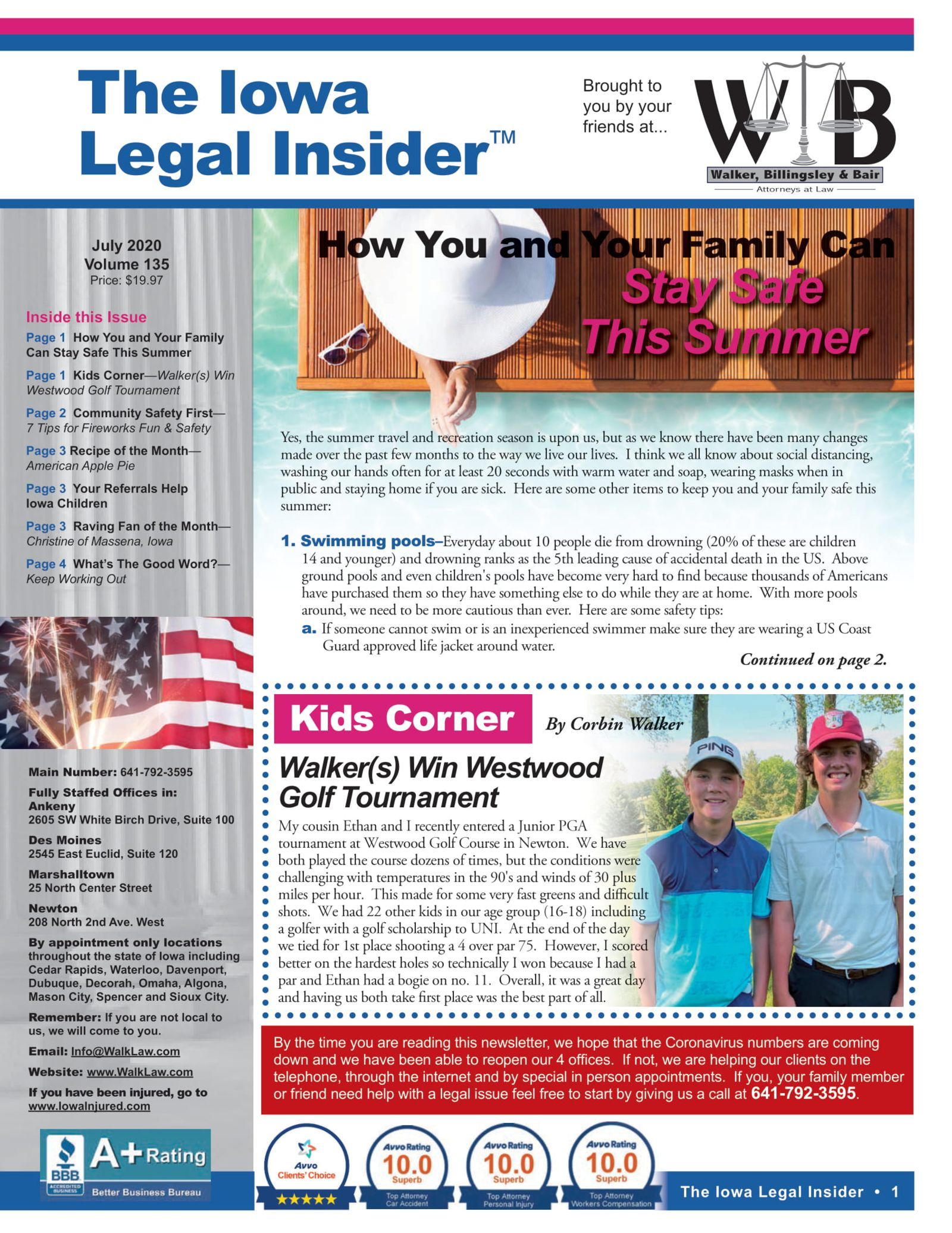 the iowa legal insider stay safe during the summer