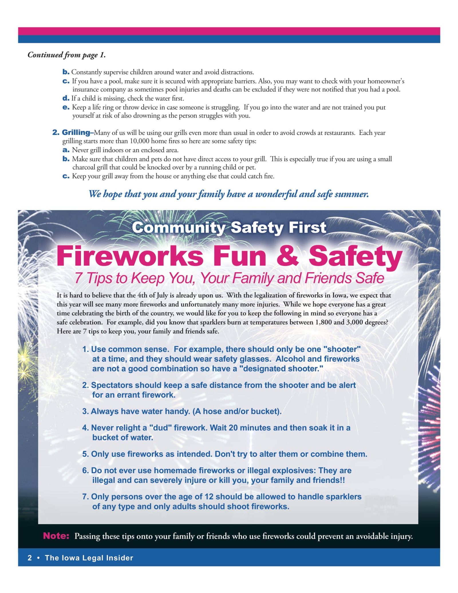 fire work fun and safety