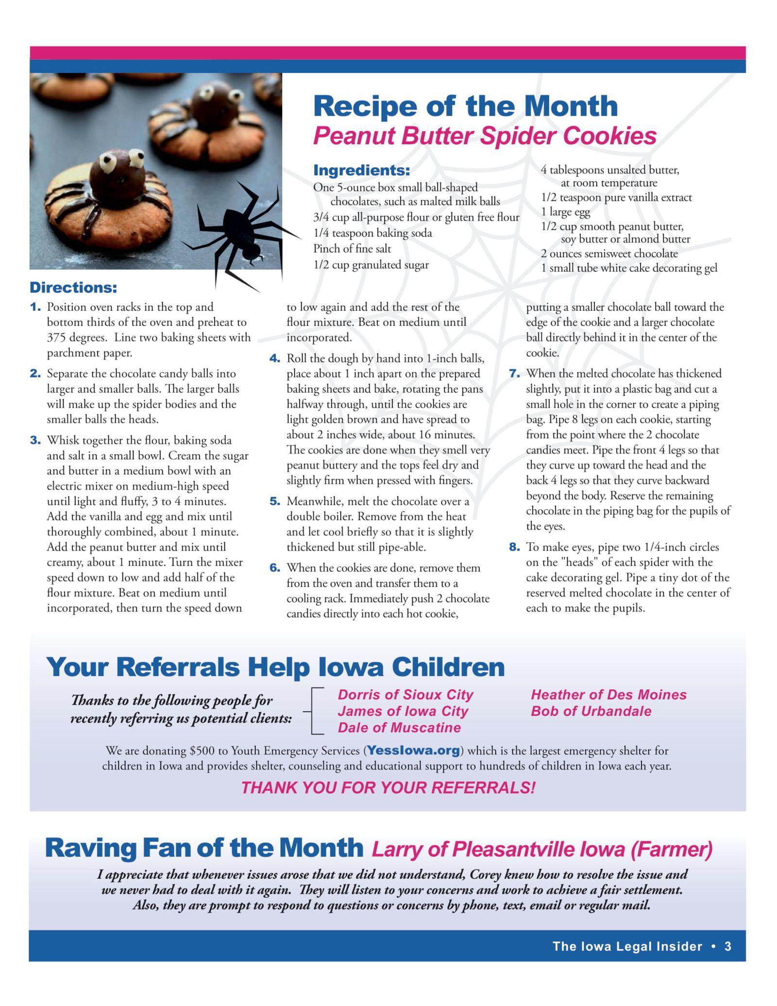 Iowa legal insider peanut butter cookies