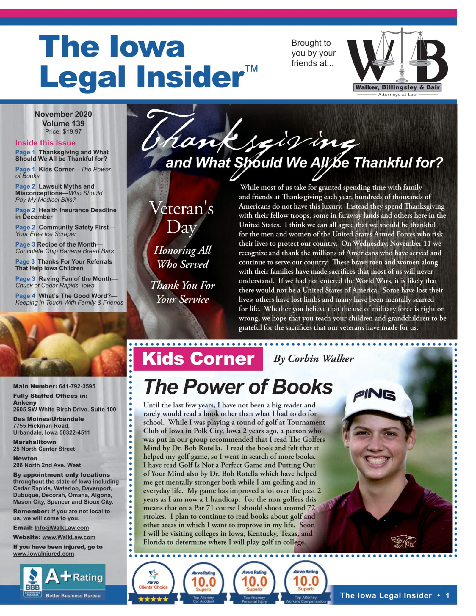 What to be thankful for this november. Iowa legal insider