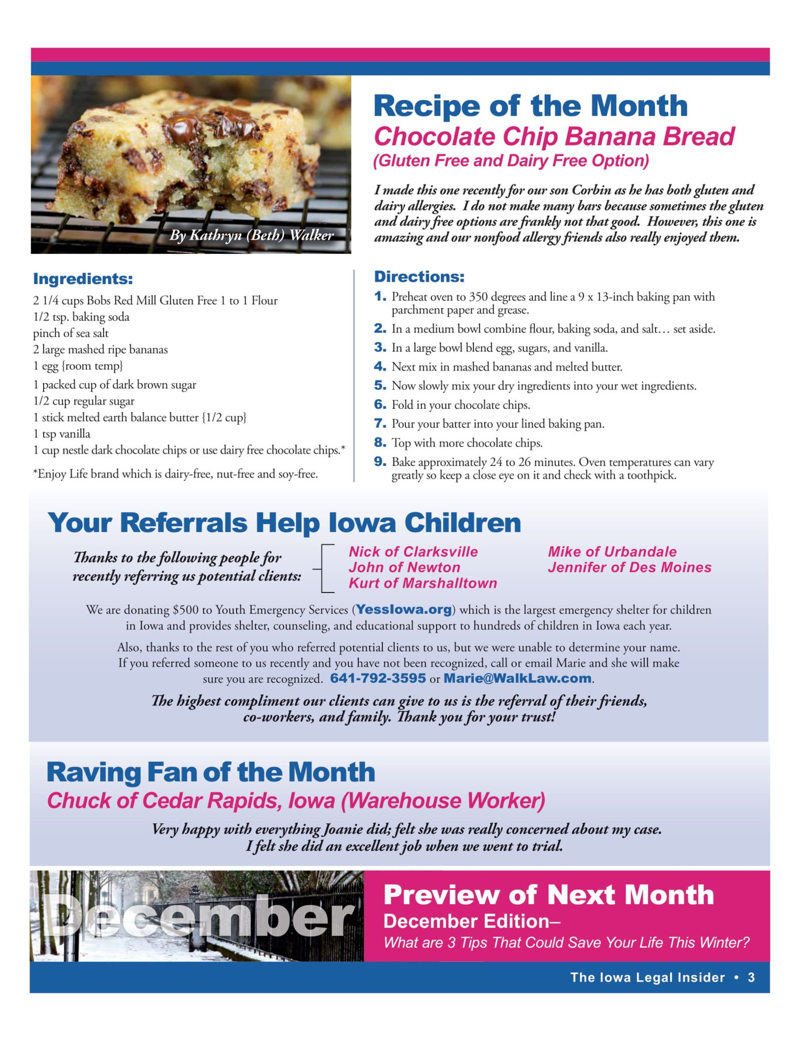 recipe of the month chocolate ship banana bread