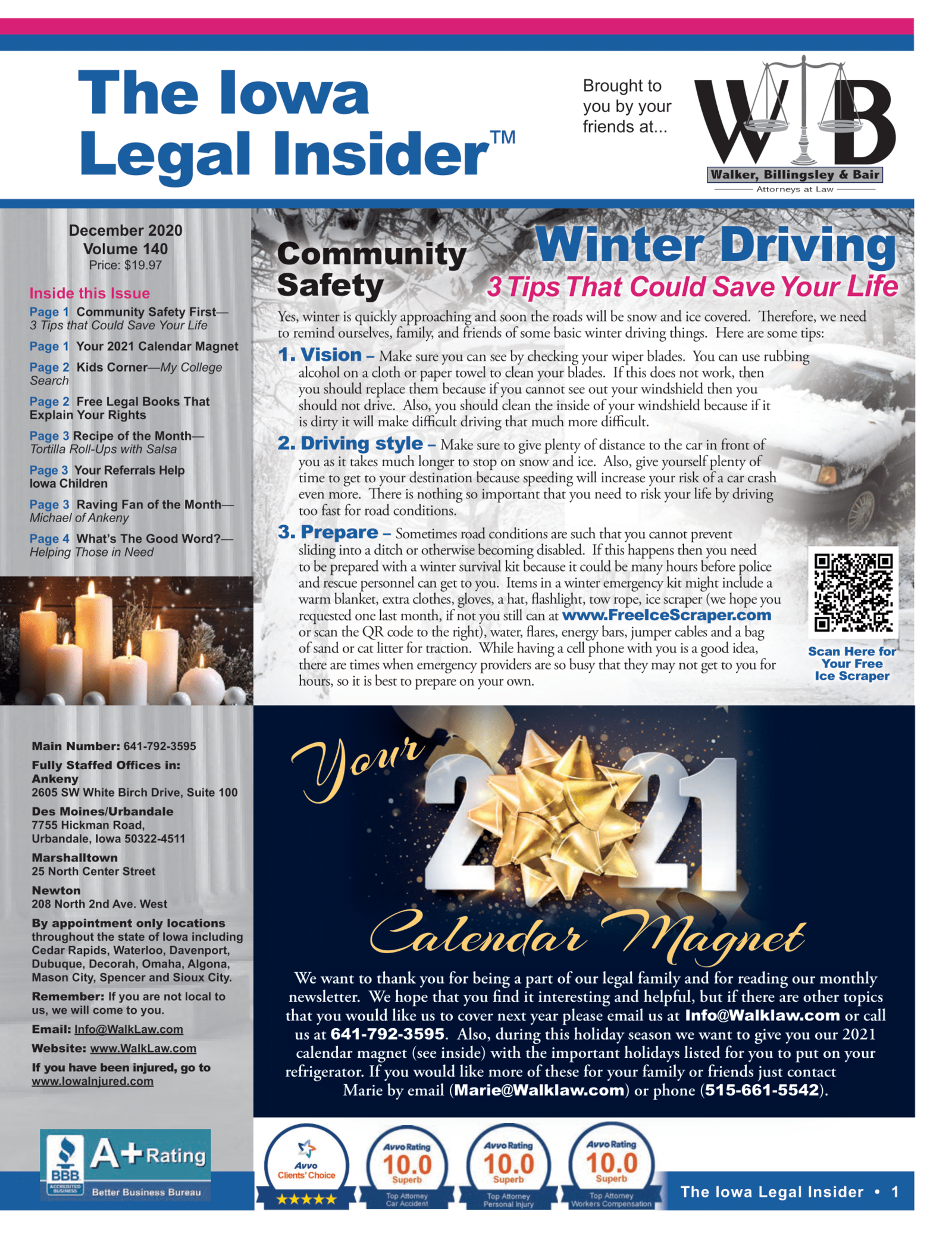 Winter Driving Tips That Could Save Your Life Iowa Legal Insider