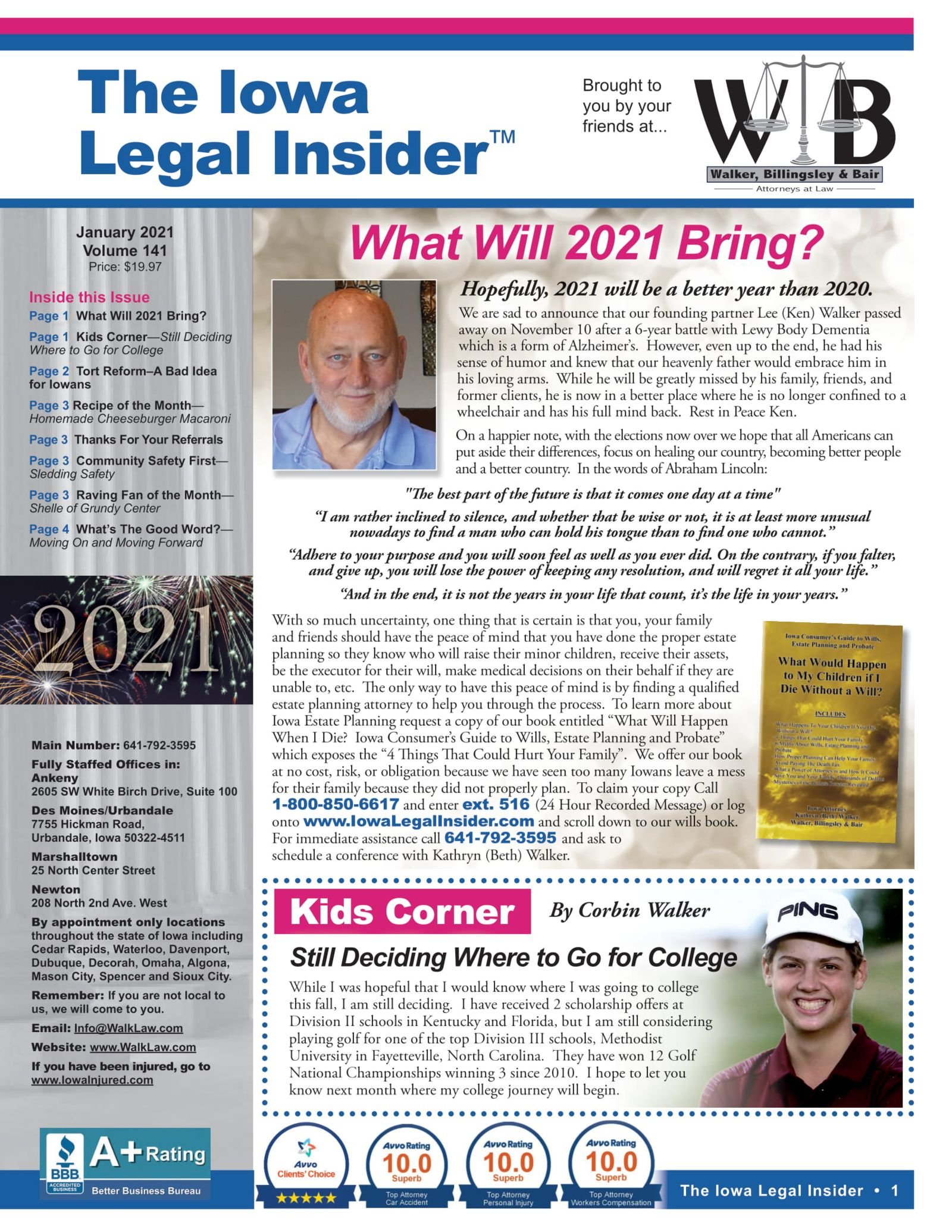 The iowa legal insider 2021