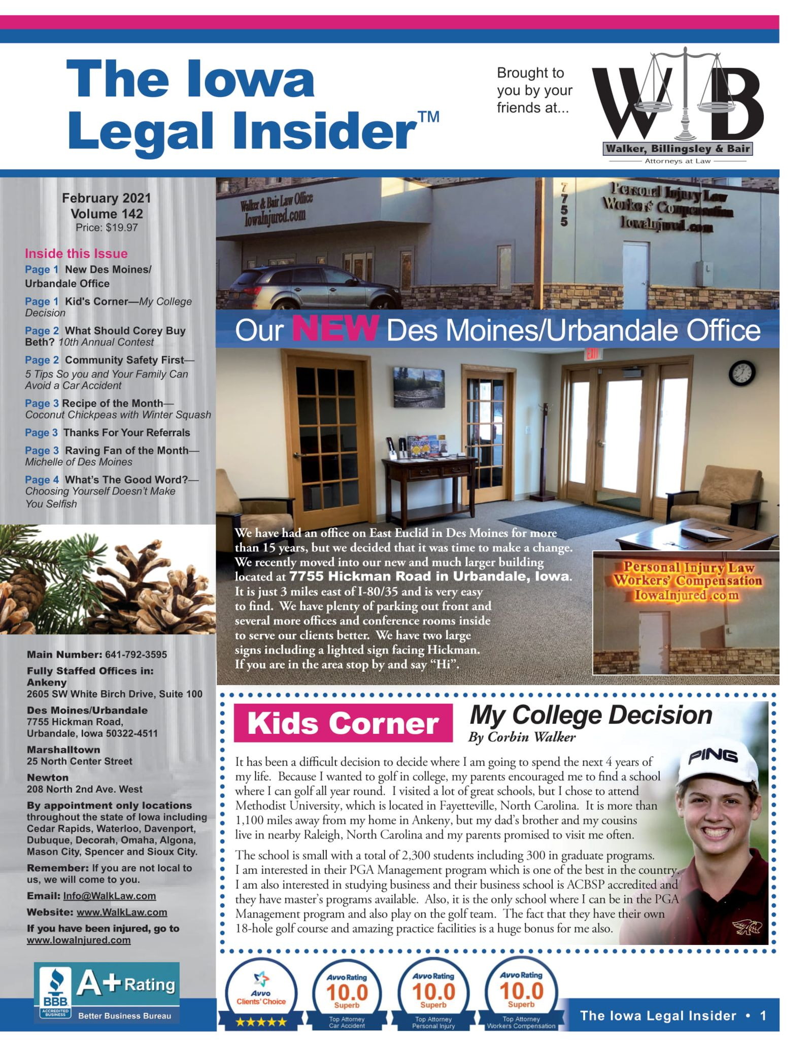 The Iowa legal insider our new des moines office