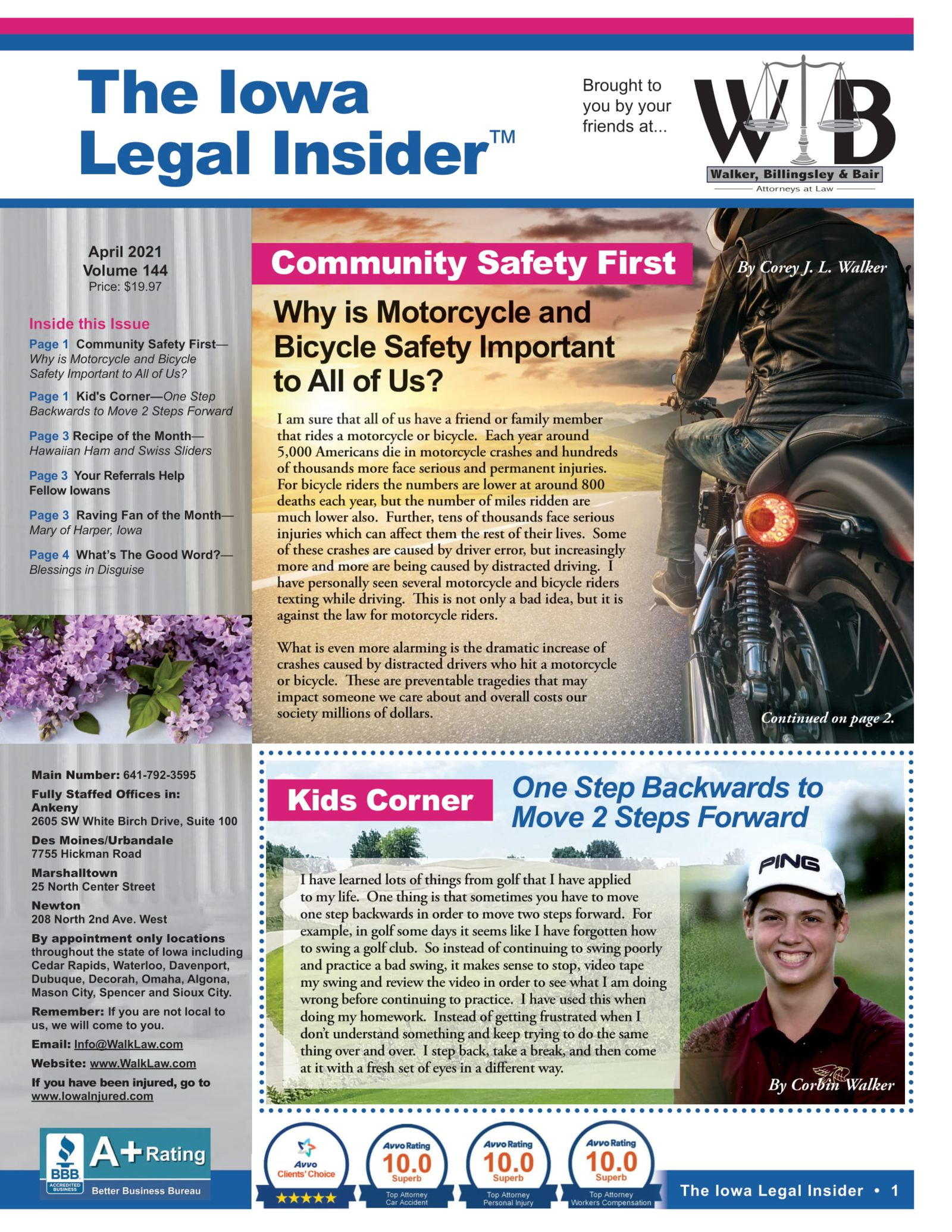 Iowa legal insider motorcycle safety importance