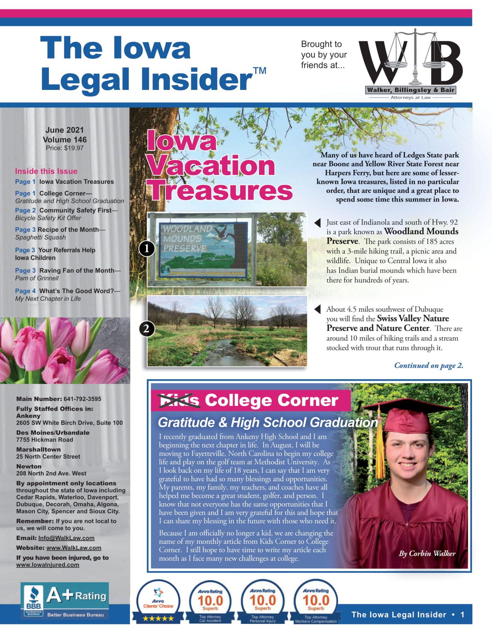 iowa legal insider Iowa Vacation Treasures