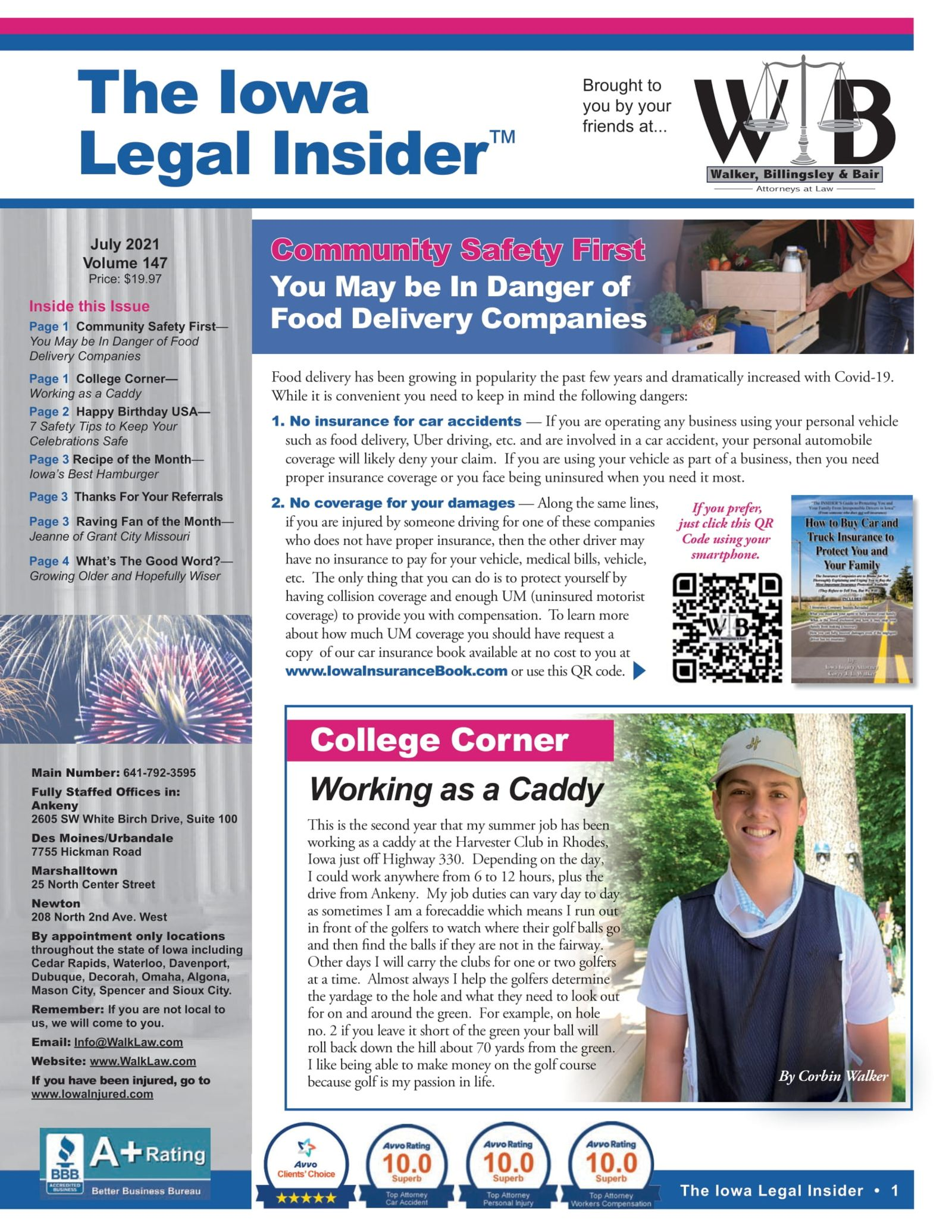 Iowa Legal Insider Dangers of Food Delivery Services