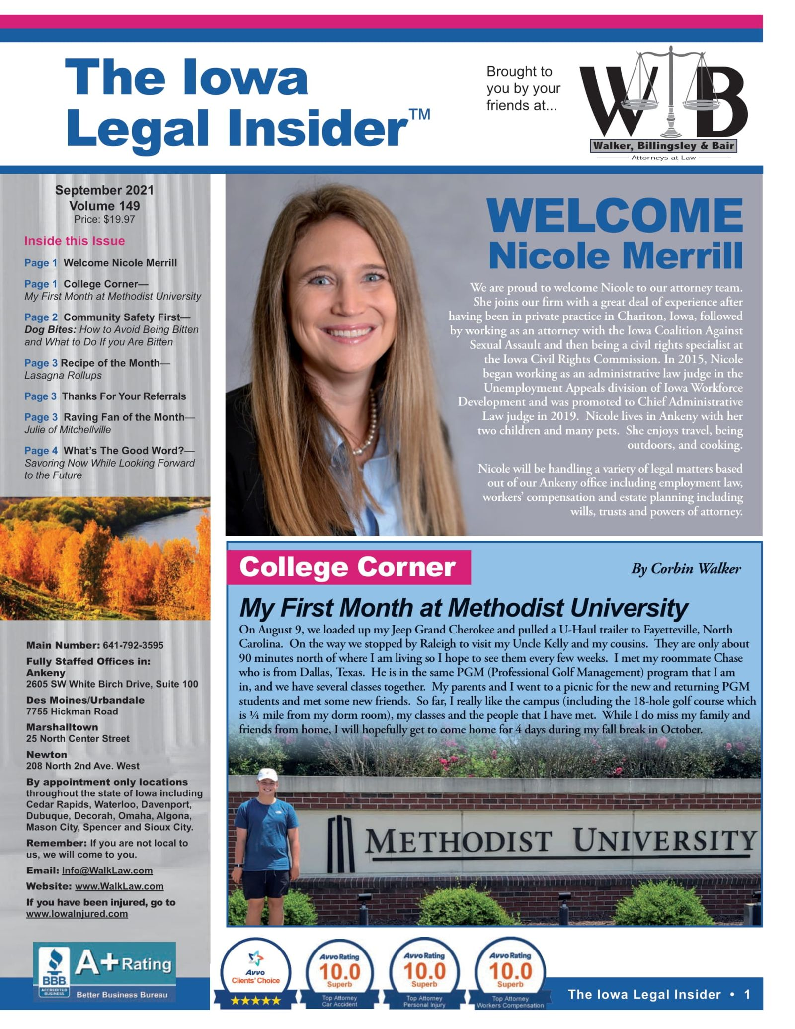 Welcome Nicole Merrill and Corbins First Month at Methodist University