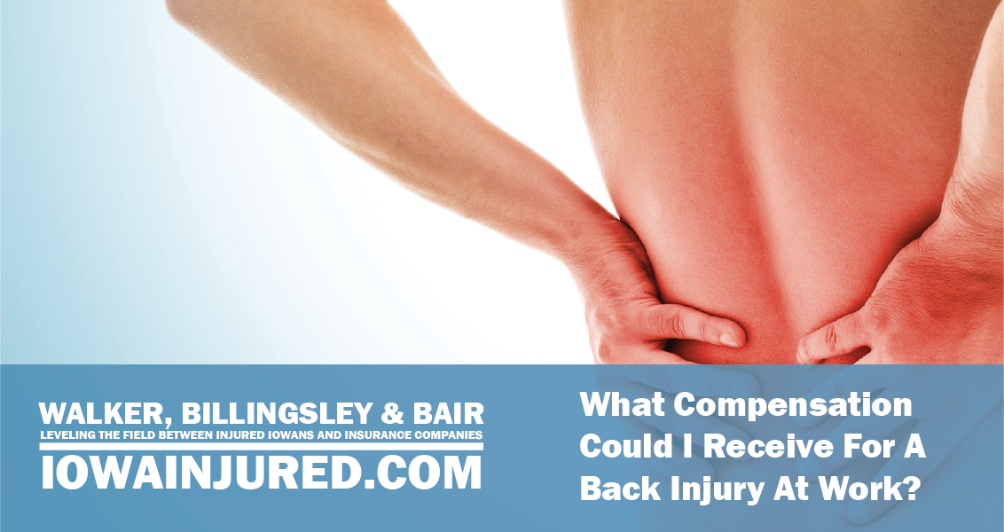 What Compensation Could I Receive For A Back Injury At Work holding hurt lower back