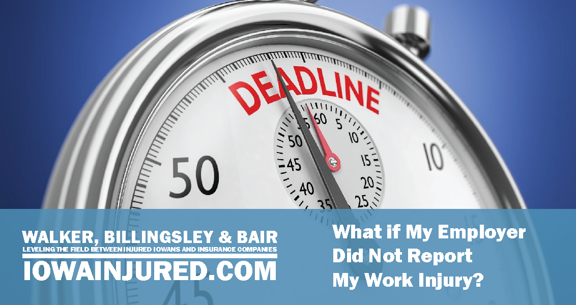 What if my Emploter did not report my work injury deadline stop watch lawyer