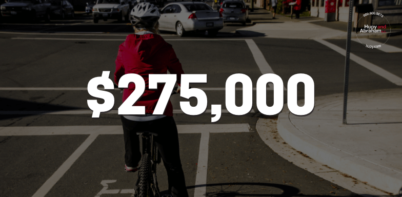 $275,000 For Client Hit On Her Bike By An Elderly Driver