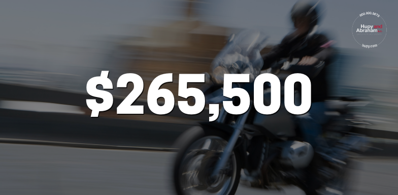Motorcyclist Cut Off By Truck Receives $265,500