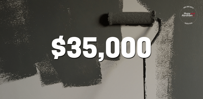 Painter hurt on the job receives $35,000 settlement
