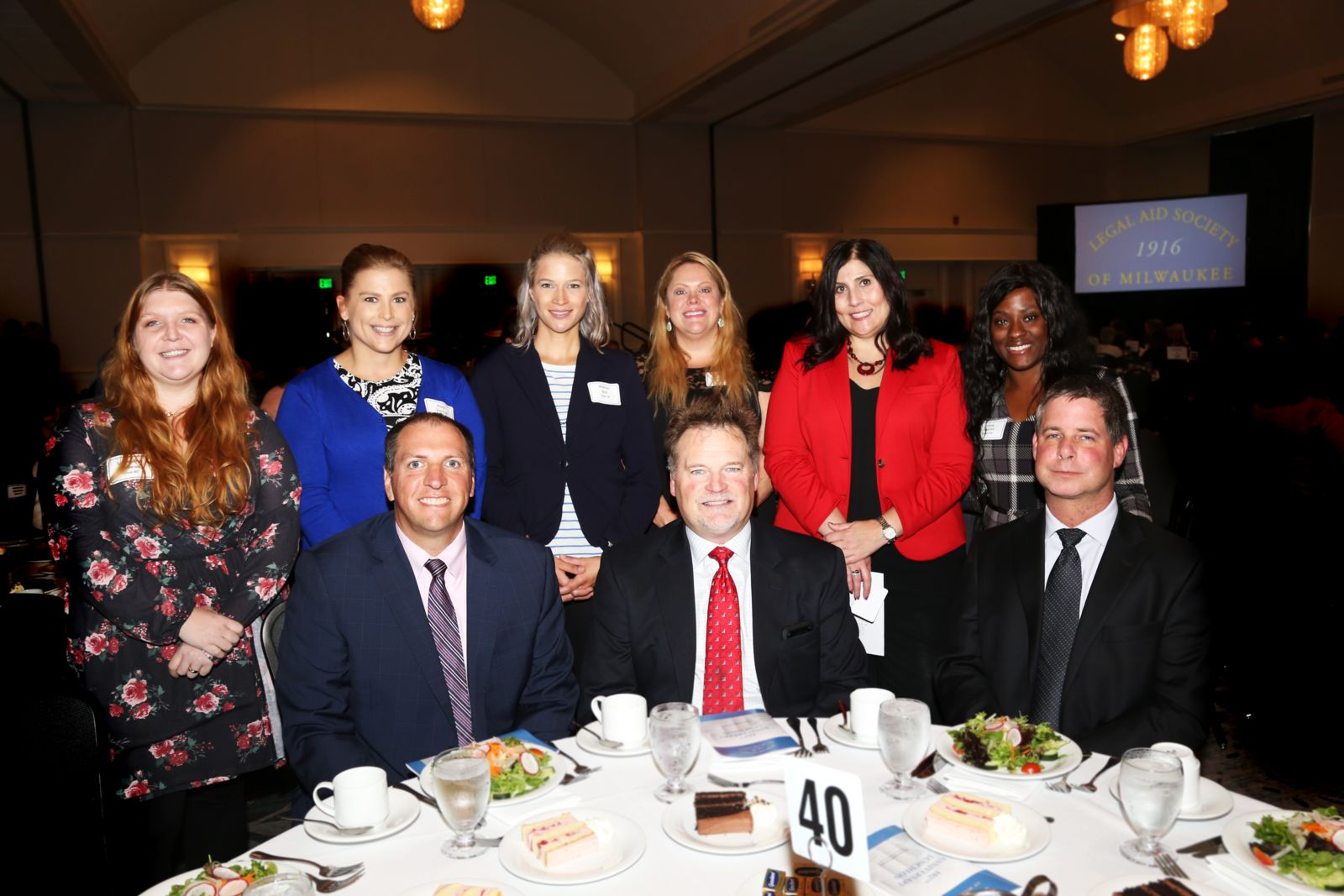 Members celebrating the Legal Aid Society of Milwaukee at anniversary party