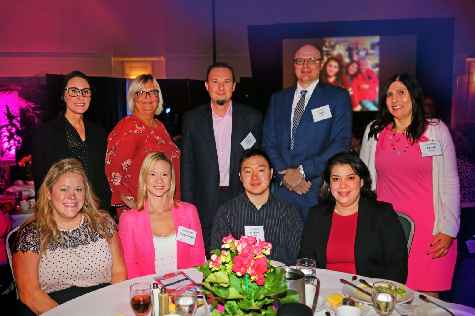 Hupy and Abraham employees at WBCS Pinktacular 2019