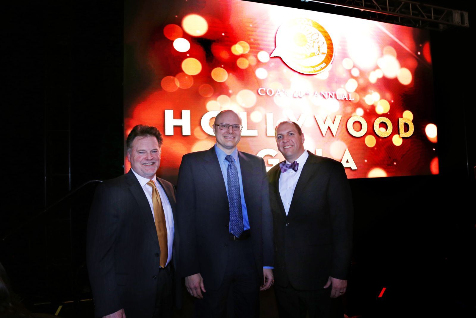 Attorney Todd Korb, Tom Perlberg & Jim Shilobrit at COA's Oscar Gala raising $177,000+
