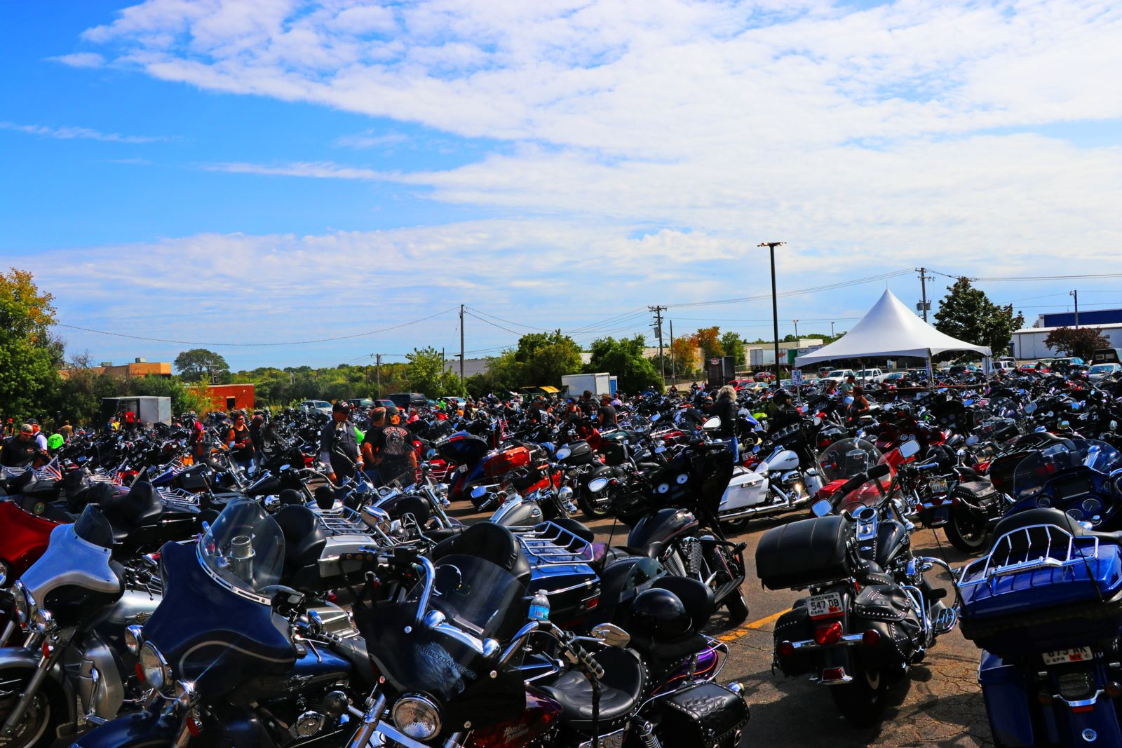Hundreds of bikes at Milwaukee Rally