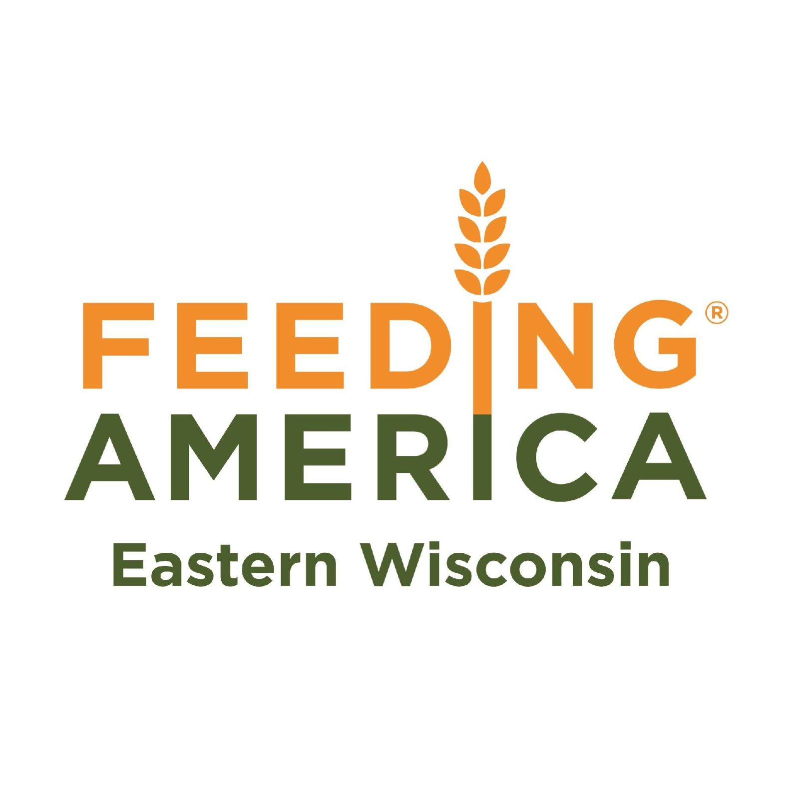 Logo of Feeding America Eastern Wisconsin thanking Hupy and Abraham