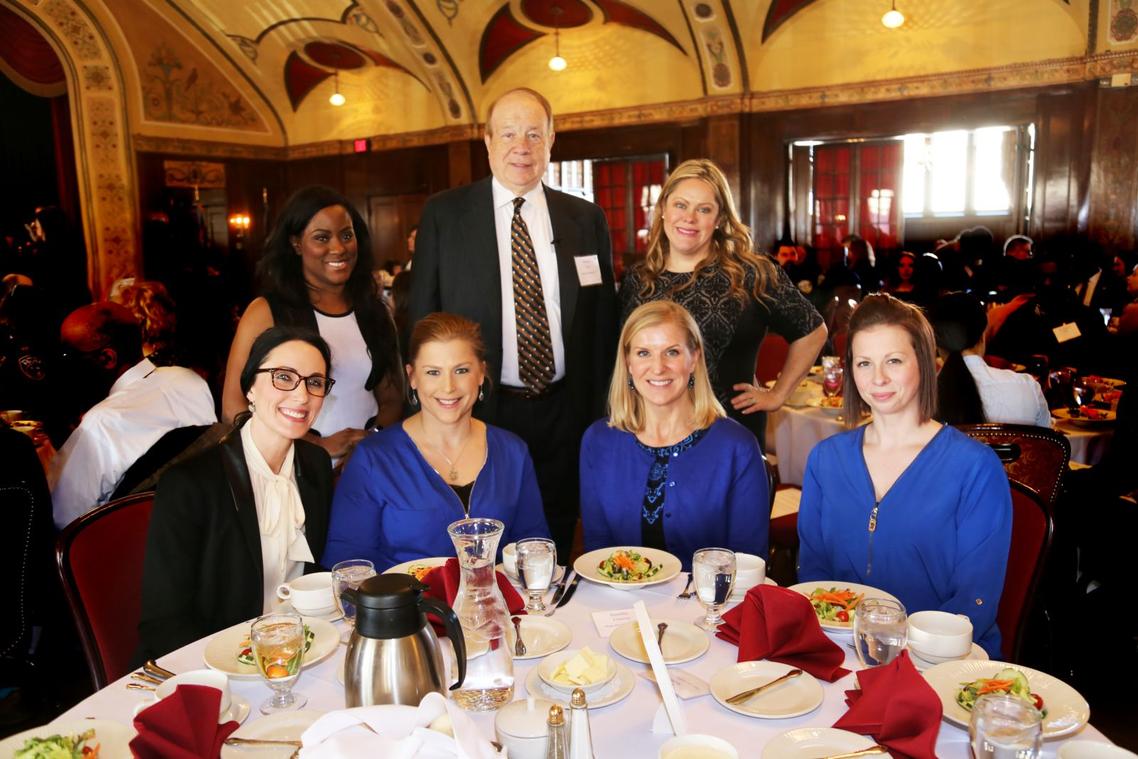 Attorney Michael Hupy with Hupy and Abraham staff at Annual Crime Prevention luncheon