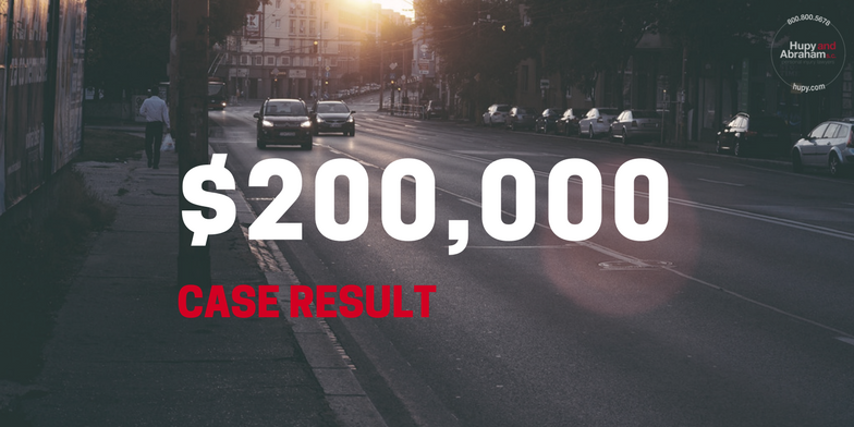 $200,000 case result for out client