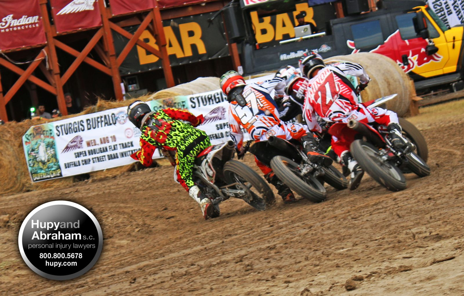 Dirt track racers at Sturgis