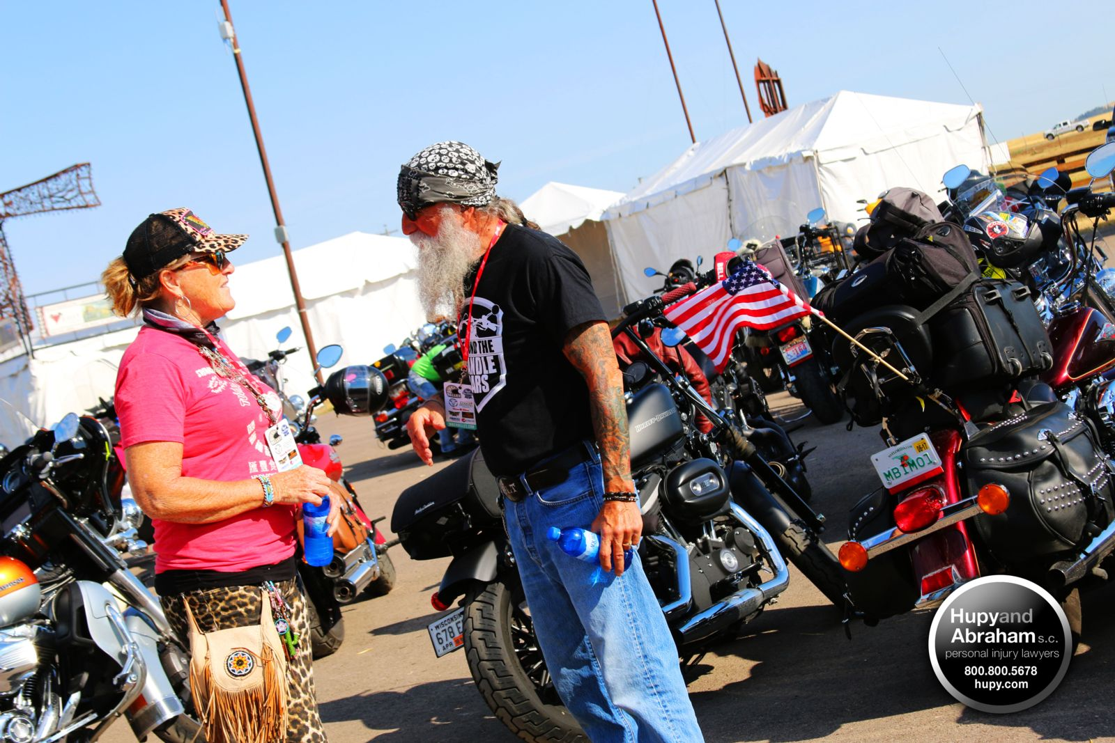 Behind the Handlebars host Tony Pan Sanfelipo at Sturgis