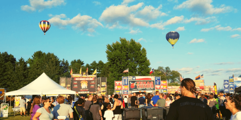 The firm has sponsored the Rib/Balloon Fest for the last few years.
