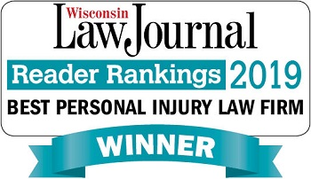 Wisonsin Law Journal Best Personal Injury Law Firm award