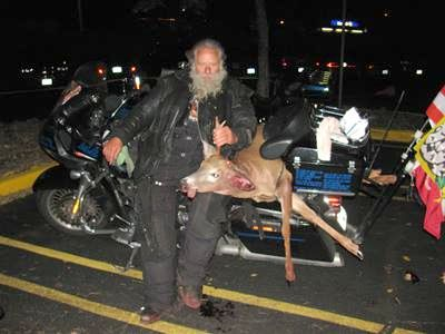 Dave Zien hit a deer in October while riding his motorcycle