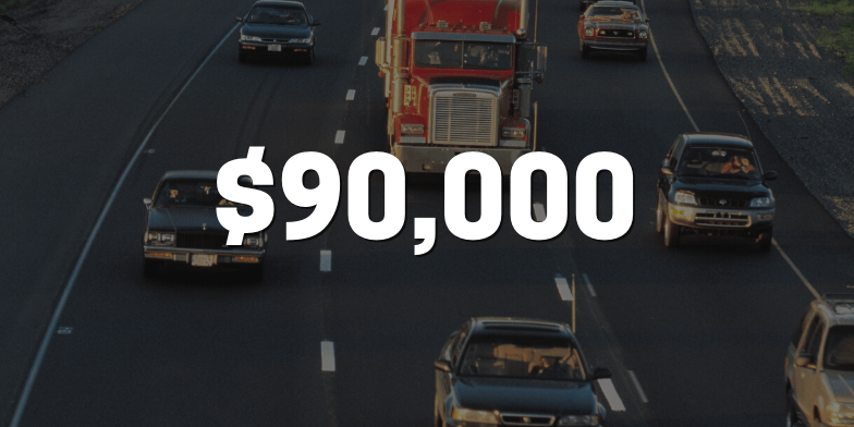 $90,000 For Man Rear-Ended By Semi Truck