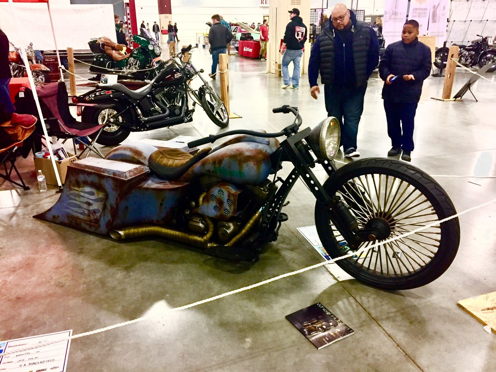 Motorcycle at World of Wheels event