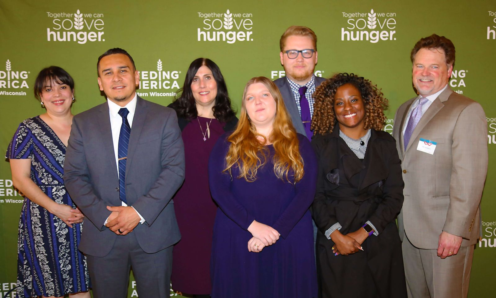 Hupy and Abraham team at Feeding America Event