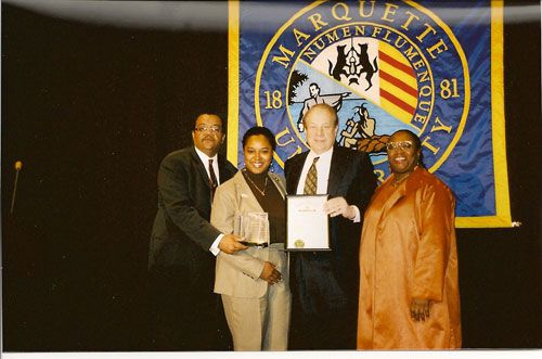 Douglas Kelley, Wisconsin State Senator Lena Taylor and Attorney Michael Hupy and CTE CEO ReDonna Rodgers