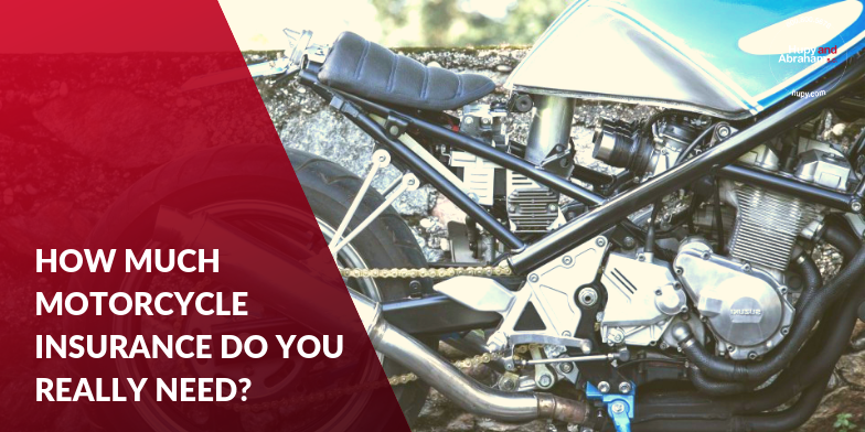 Close up image of a motorcycle - how much insurance do you really need on your bike?
