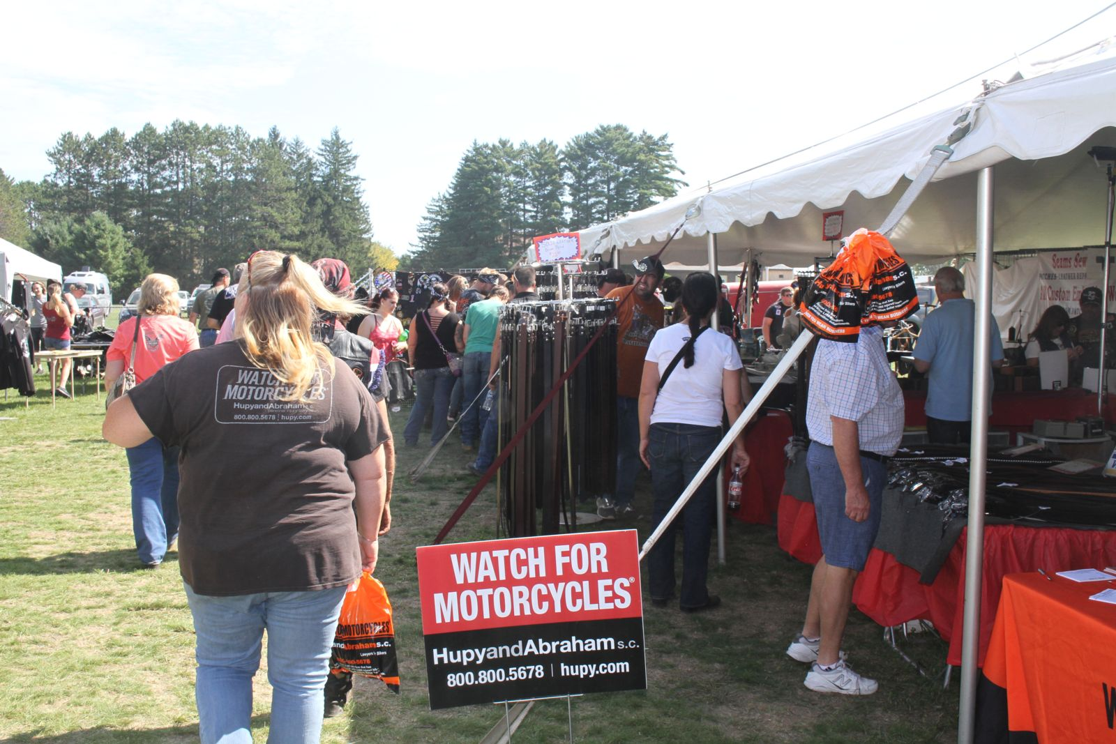 Vendor booths at 37th Annual Tomahawk Fall Ride and Rally