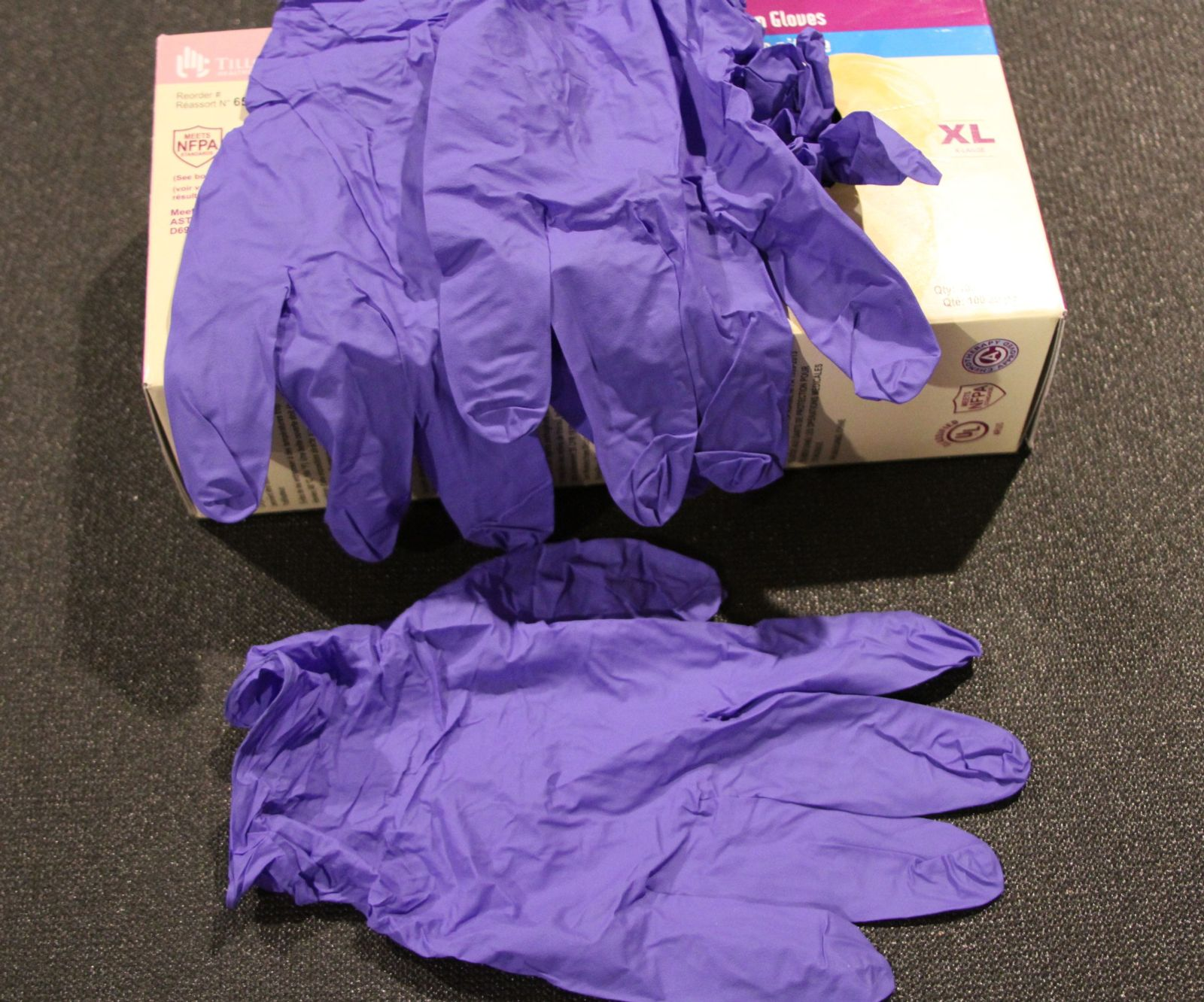 Nitrile gloves.