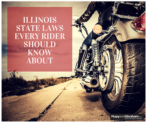 Motorcycle rider in Illinois obeying the laws