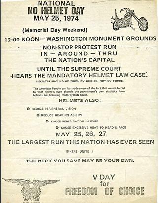 1974 National helmet day poster