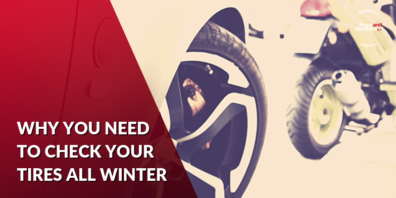 During the winter it's important to check the tire pressure of your motorcycle and car often.