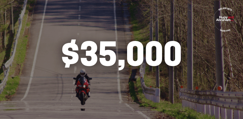 Injured Motorcyclist Receives Settlement Almost Three Times More Than Initial Offer